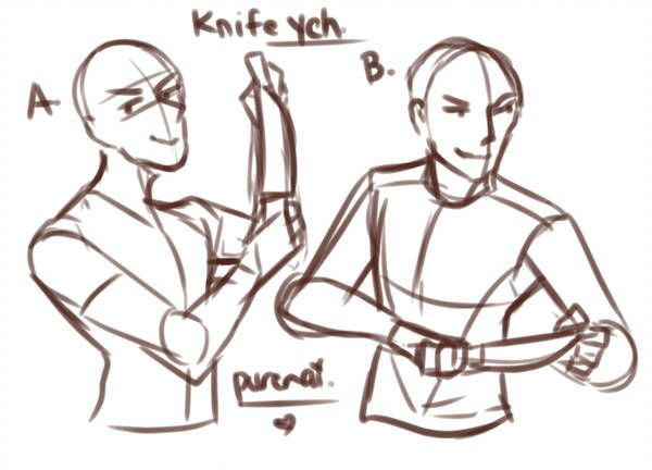 Knife Holding Poses Open By Purenai Body Reference Drawing