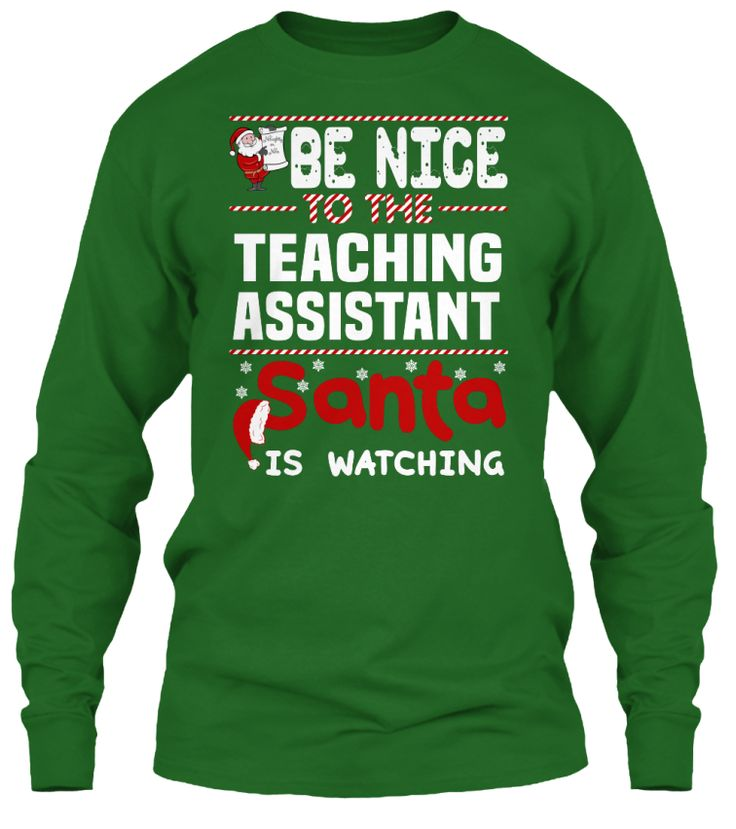 Be Nice To The Teaching Assistant Santa Is Watching.   Ugly Sweater  Teaching Assistant Xmas T-Shirts. If You Proud Your Job, This Shirt Makes A Great Gift For You And Your Family On Christmas.  Ugly Sweater  Teaching Assistant, Xmas  Teaching Assistant Shirts,  Teaching Assistant Xmas T Shirts,  Teaching Assistant Job Shirts,  Teaching Assistant Tees,  Teaching Assistant Hoodies,  Teaching Assistant Ugly Sweaters,  Teaching Assistant Long Sleeve,  Teaching Assistant Funny Shirts,  Teaching…