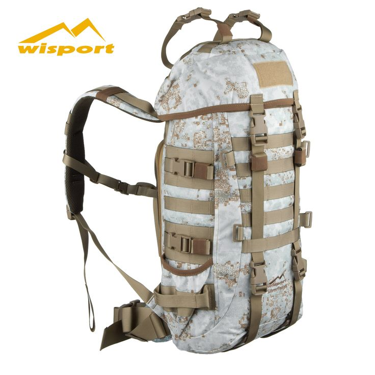Constructed of strong Cordura Nylon with DuPont Teflon fabric protector, Wisport SilverFox Rucksack in PenCott Snowdrift camo features vast main compartment with innovative OpenBack carrying system, three outside pockets, body contour shoulder straps and padded back, along with MOLLE loops, elastic bands and D-Rings for additional attachments. Just £109.95! Find out more at Military 1st online store. Free UK delivery and returns! Competitive overseas shipping rates.