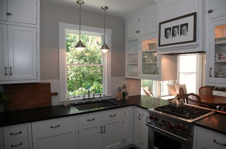 Slate floor white kitchen kitchen ideas pinterest for Slate kitchen floors with white cabinets