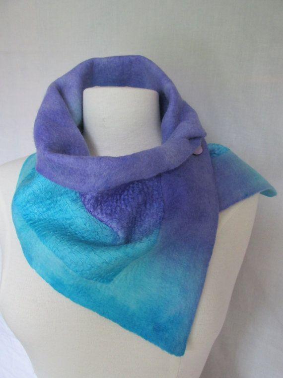 nuno felt scarf/collar by Feltandfaeryfolk on Etsy