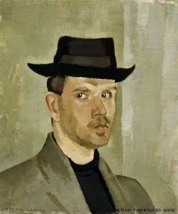 Finnish artist EERO NELIMARKKA  Self-Portrait (1922)