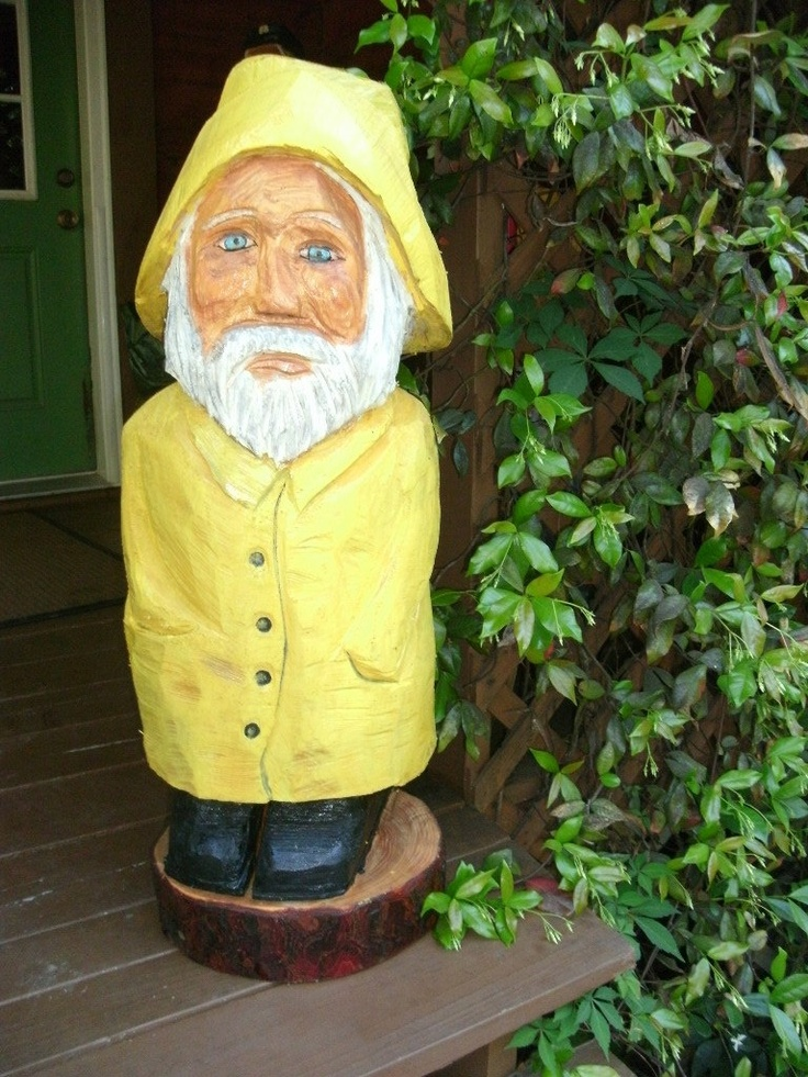 Free stand salt man captain fisherman quot tall chainsaw