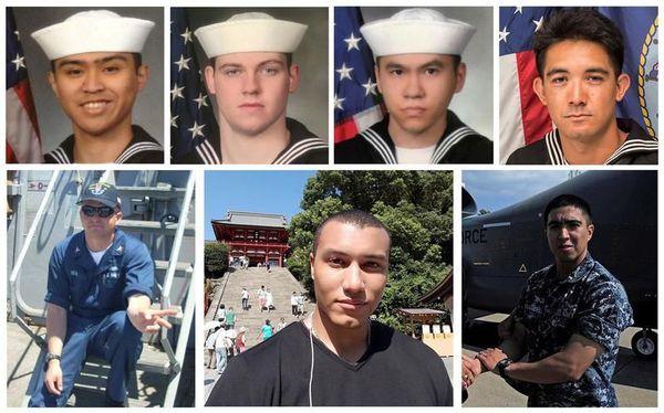 Deux jours après la collision entre un navire de l'US Navy et un cargo japonais, la marine américaine a confirmé avoir identifié ses sept marins disparus.