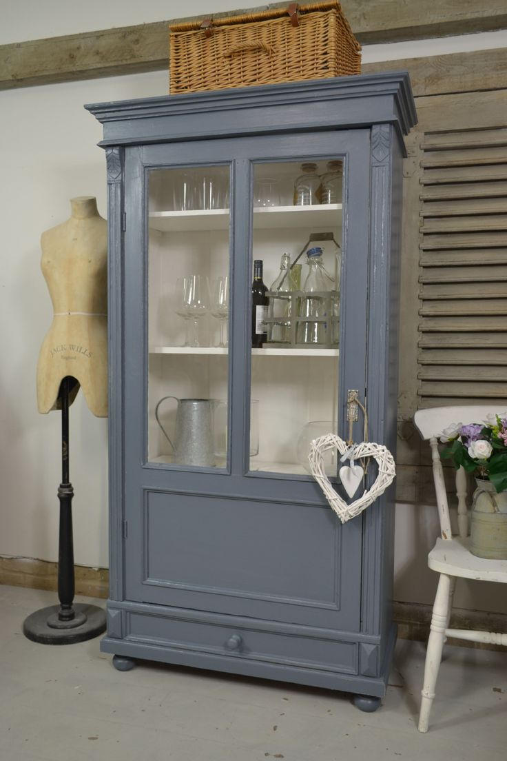 This small glass fronted Linen Cupboard from Holland, is perfect for a small…