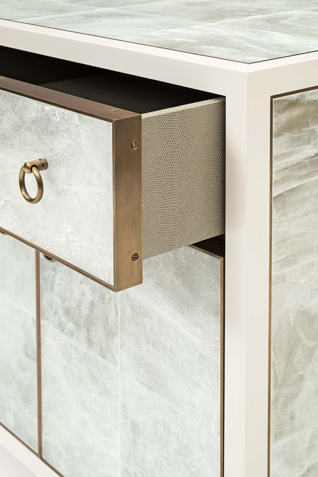date note shagreen details on furniture pieces are elegant