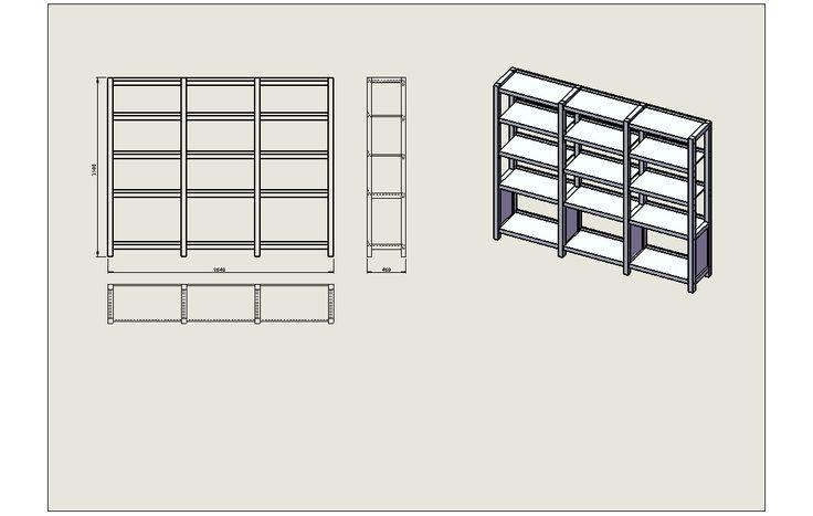 модульные стеллажи для магазина -сборка секции