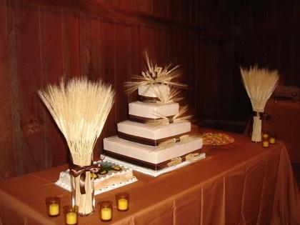 Image detail for -wheat themed wedding cake john deere tractor grooms cake