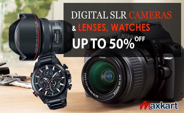 Digital SLR Cameras & Lenses, Watches up to 50% off. Maxkart.co.uk #DSLR #Camera #Lenses #Sigma #Watch #photography #MaxKart #uk #Sale #Casio #Gshock #protek #BabyG #Fossil