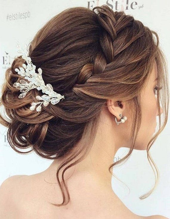 Wedding Hair Vine, Bridal Hair Piece, bridal hair accessory, tocados novia, rose gold hair comb, head piece for bride  Gold Crystal Bridal Comb for hair is a great way to make your wedding day gorgeous. You can choose in our store SavchenkoDesign any accessories: hair combs, long hair vine and