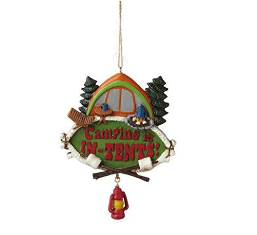 Midwest cbk camping is in tents resin christmas ornament