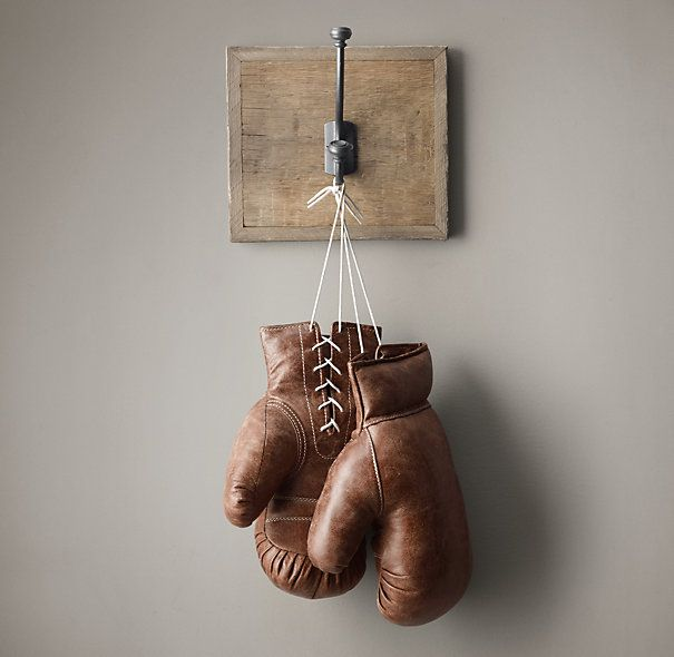 VINTAGE LEATHER BOXING GLOVES $99 Crafted from burnished leather that's cut, tanned, distressed and stitched by hand, our boxing gloves have a rugged vintage appeal that recalls prizefighting in the age of Jack Dempsey and Gene Tunney.