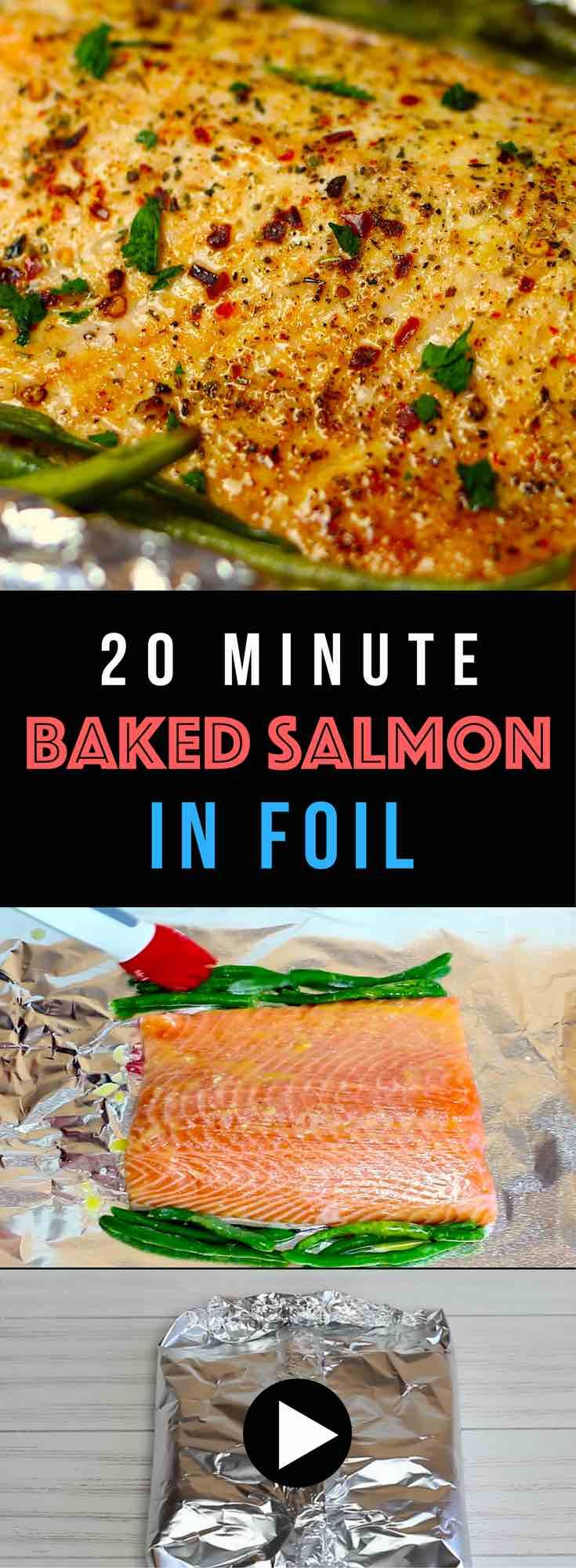 20 Minute Baked Salmon With Veggies In Foil (with Video) Learn How To Cook  Glazed Head