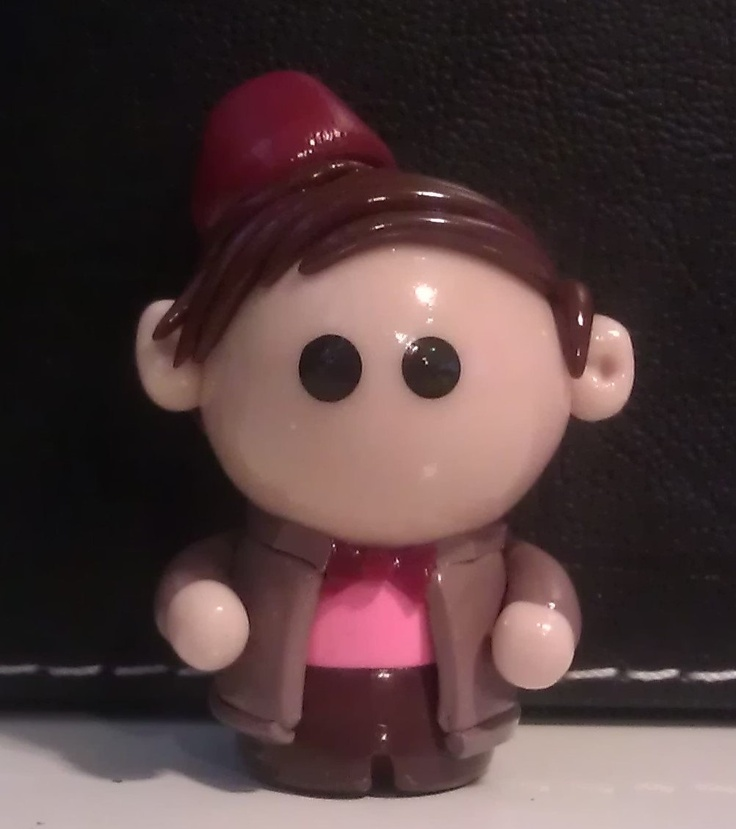 Doctor Who - Adapt these clay figures into cupcakes?     - 11th Doctor Miniature. $10.00, via Etsy.