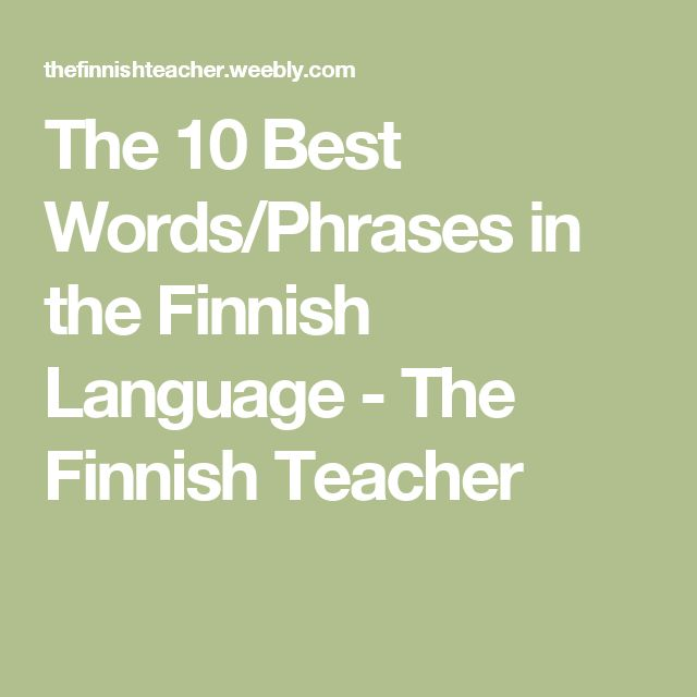finnish vocabulary Receive word of the day mini-lessons in your inbox for a convenient new way to learn a language available in 38 languages.