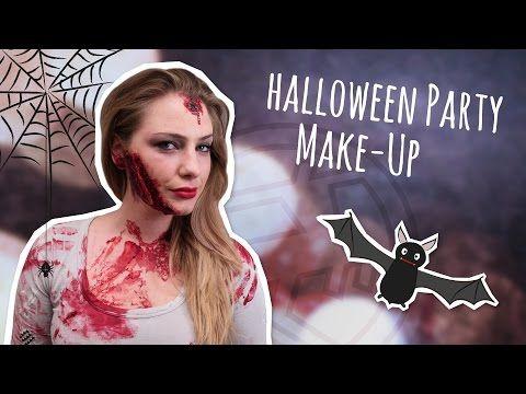 Halloween Party Make-Up – Wunden schminken - YouTube