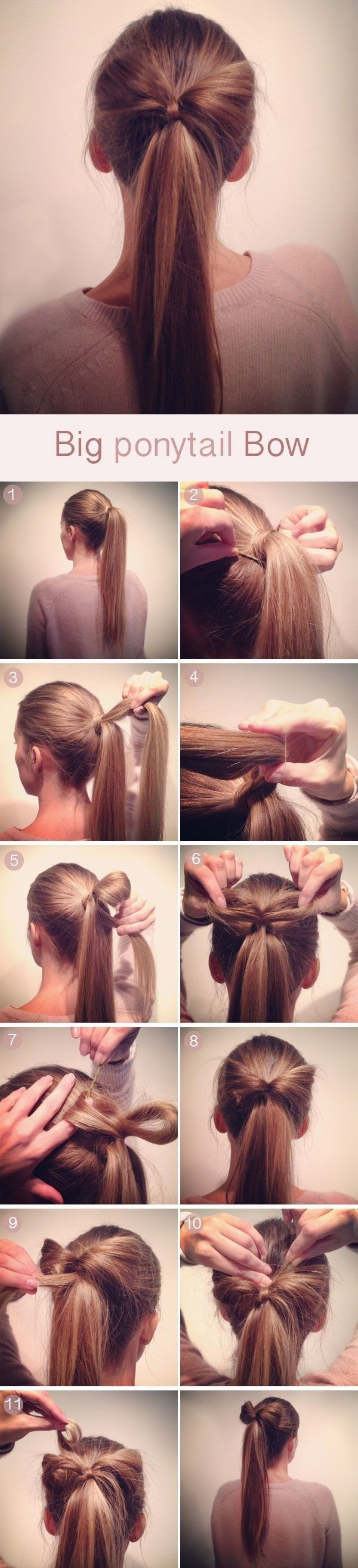 Put a big floppy bow on it. | 27 Tips And Tricks To Get The Perfect Ponytail