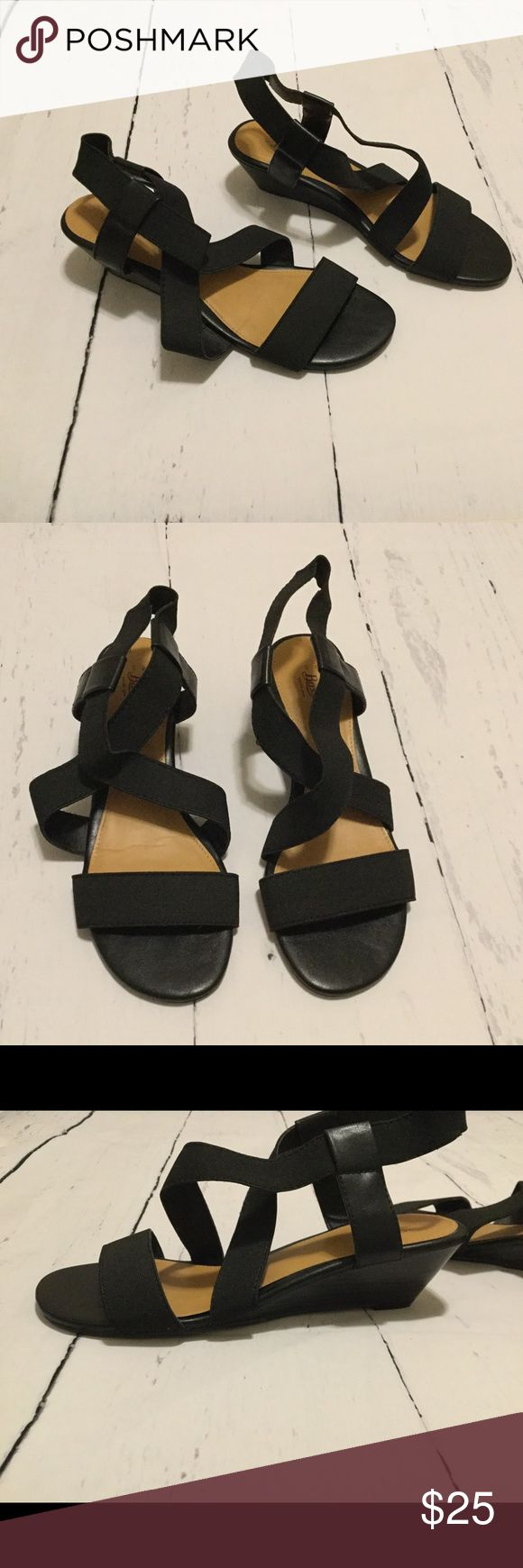 "Low Wedge Slingback Sandals In good condition. Wedge height is 2"". Bass Shoes Sandals"