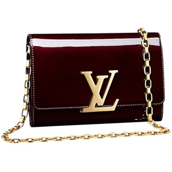 Pre-owned Louis Vuitton Chain Gm Burgundy Cross Body Bag (£1,450) ❤ liked on Polyvore featuring bags, handbags, shoulder bags, purses, burgundy, red shoulder bag, chain shoulder bag, purses crossbody, handbags shoulder bags and red patent leather handbags