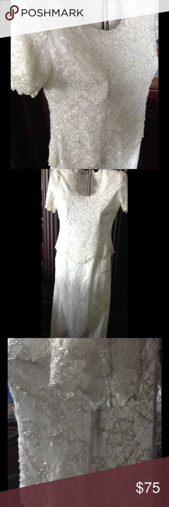 dillards wedding dresses dillards wedding dress Beautifully laced cocktail or wedding dress NWT