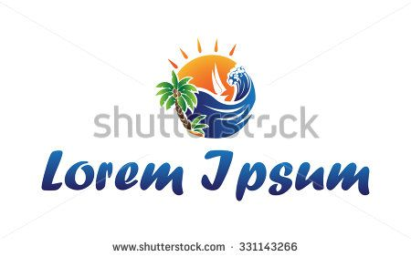 Icon beach and recreational activities