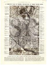 1943 MAP Plan KRUPPS ESSEN WORKS Armaments FACTORY Germany WW2 PRINT