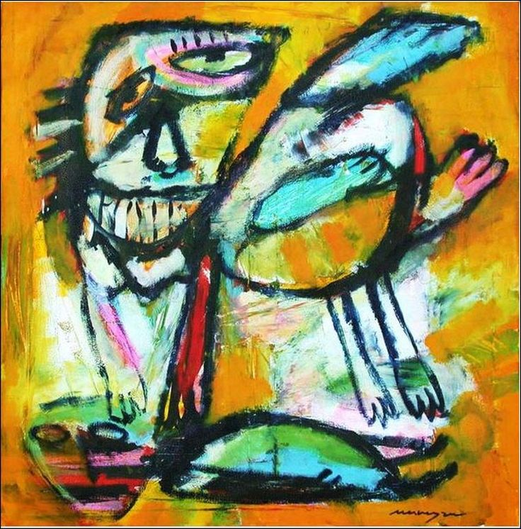 Henk Vierveijzer, acrylverf op canvas: Vliegensvlug