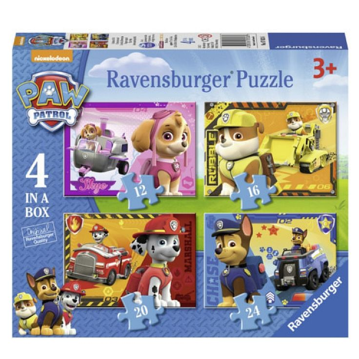Ravensburger, Psi Patrol, puzzle 4w1, 72 elementy