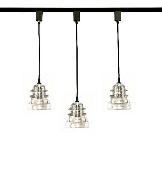 Brand new track light Frankenfixtures made with old insulators get backdated to the 1950s on mendacious Etsy.