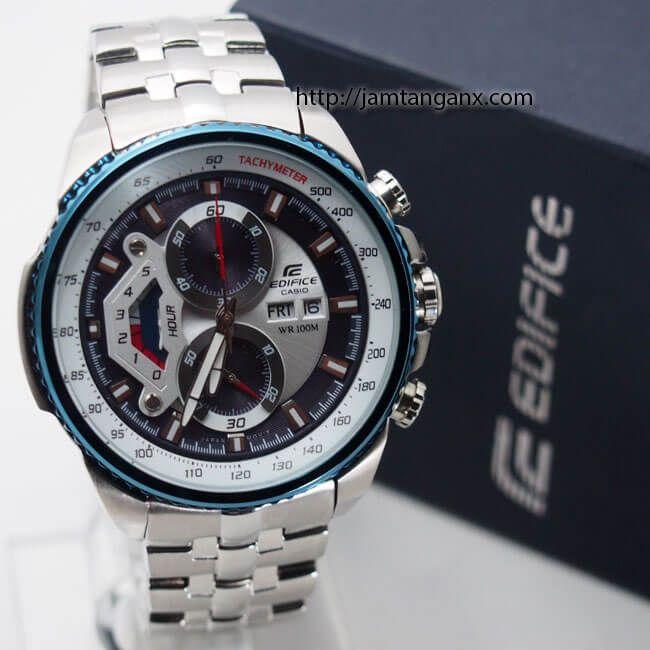 jam tangan edifice EF-558 Silver Blue
