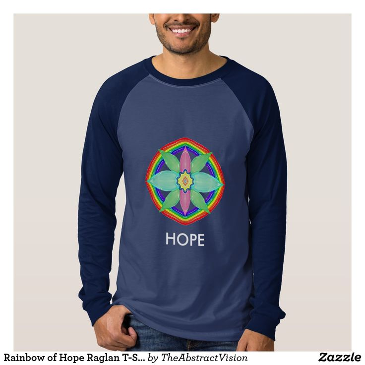 Rainbow of Hope Raglan T-Shirt.