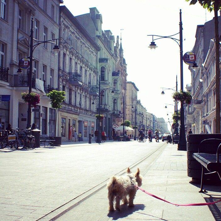 Piotrkowska Street, Lodz, Poland.