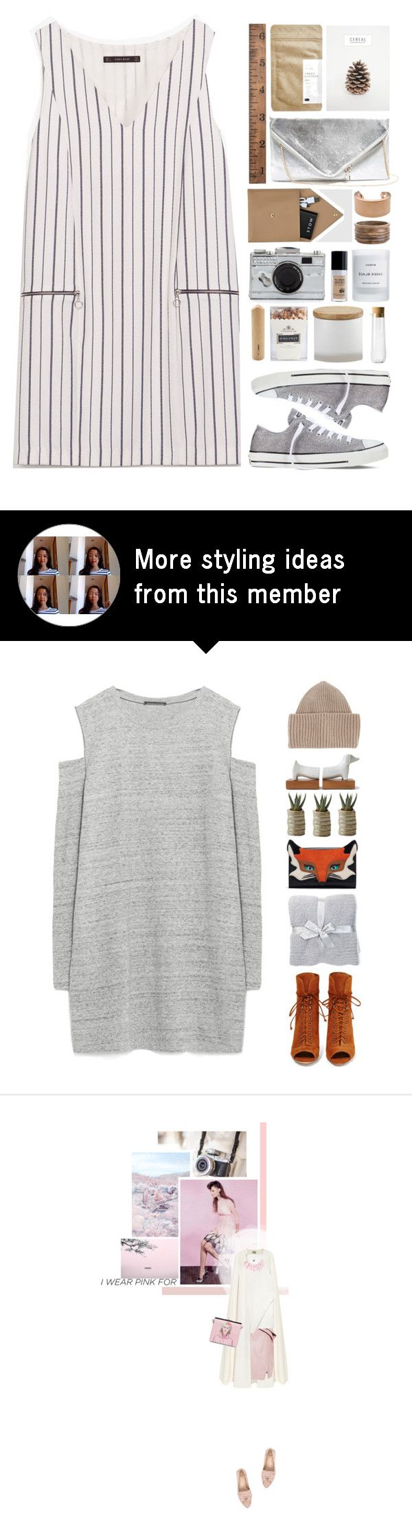 """a little mix and match"" by annisaamara on Polyvore featuring Zara, Paper & Tea, GUESS, Converse, Maison Margiela, STOW, Byredo, Kate Spade, CB2 and Barclay Butera"