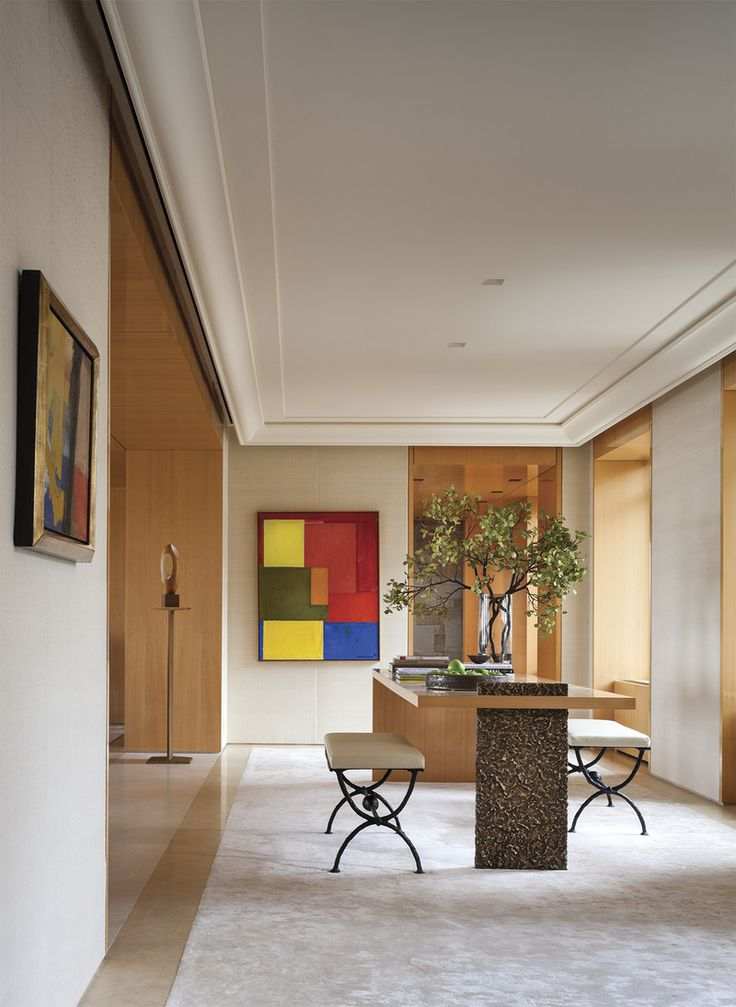 Modern Entry and Hall in New York, NY by Thomas Pheasant Interiors
