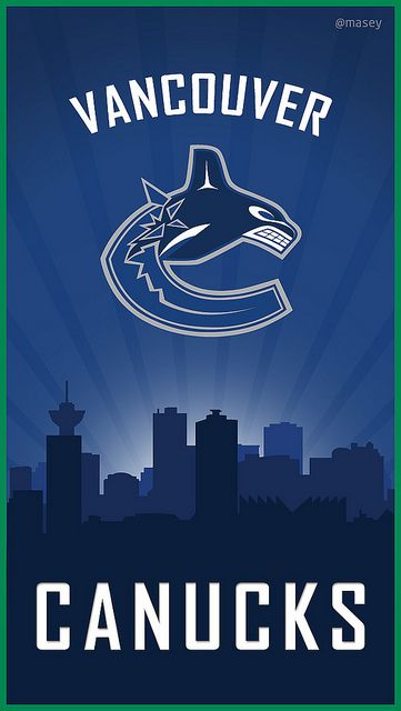 Canucks Take Over the City iPhone Wallpaper