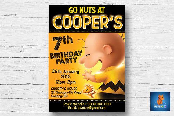 Snoopy Invitation  Peanuts Invitation  Snoopy Party by InviteART