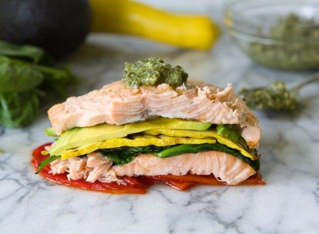 Stacked Salmon Salad