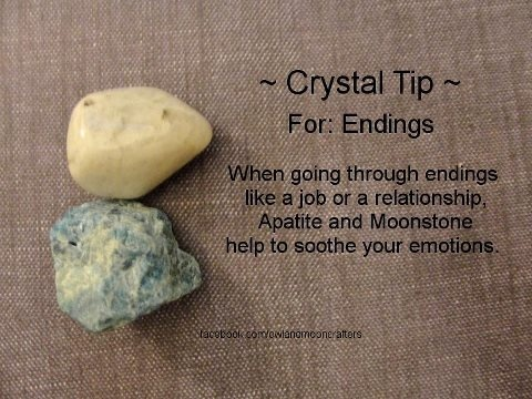 .crystal to help you go through endings