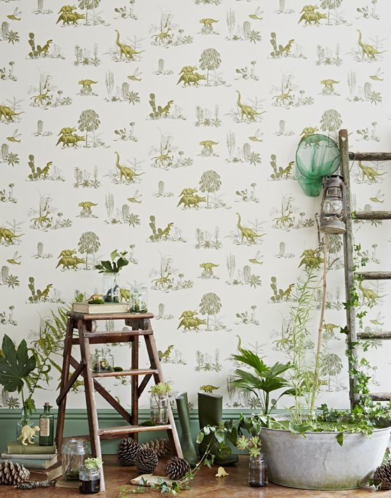 Magnetic Dinosaur Wallpaper for Children - Petit & Small