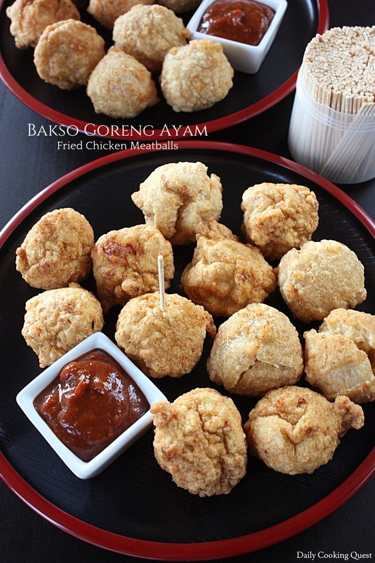 Bakso Goreng Ayam – Fried Chicken Meatballs