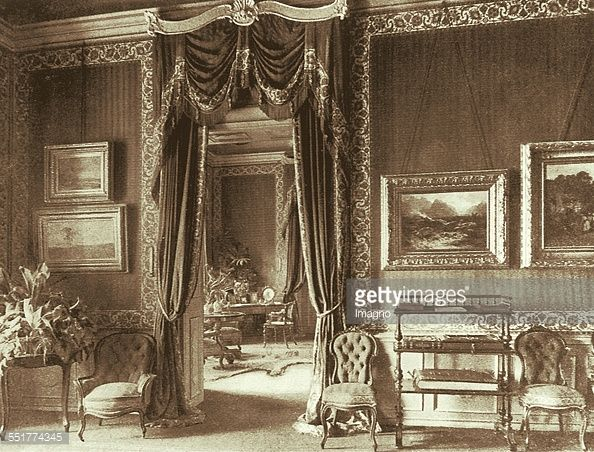 Salon of Empress Elisabeth in Gödöllö Castle. About 1901. Photograph. (Photo by Imagno/Getty Images)