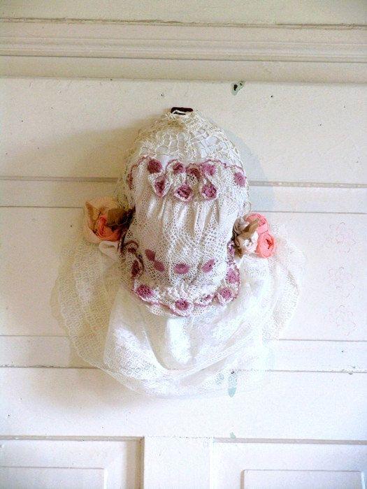 Valentaine Wedding Hat Edwrdian Hat Romantic Hat by recyclingroom, $45.00