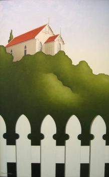 Brian Dahlberg // Mataire   Oil on canvas, 330 x 620 #Art #Landscape #Oil #Painting #NewZealand