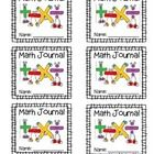 Math Journal Labels to use for student notebooks or folders.    Borders: Krista Wallden- Creative Clips http://www.teacherspayteachers.com/St...