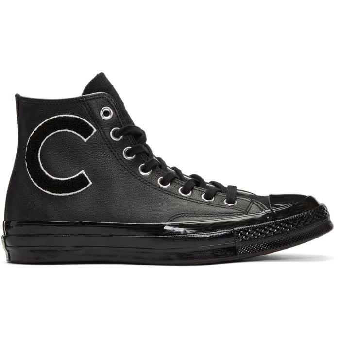 Converse Black Chuck Taylor All Star 70 Wordmark Wool High