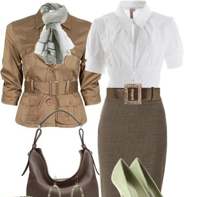 10 best khaki pencil skirt images on Pinterest