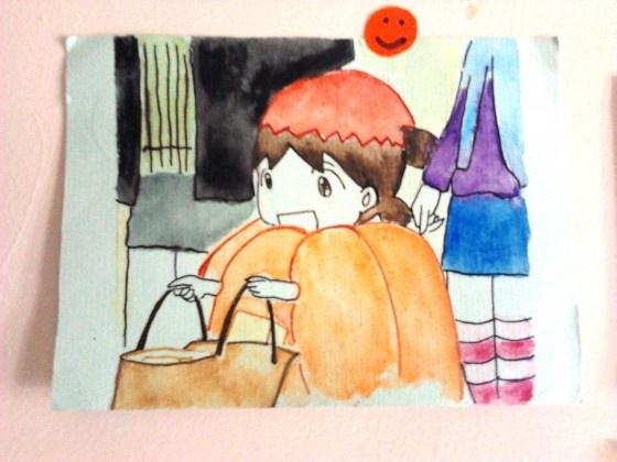 Setuju deh sama Fanniy, tokoh komik Yotsuba ini cute banget :3   Ngebikin dinding kosanku jadi tambah manis..    -- Thanks Dea Martha :)