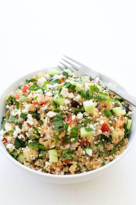 Greek Kale Quinoa Salad