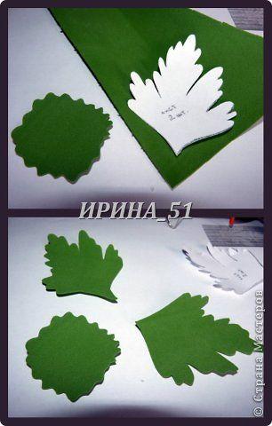Мастер-класс Флористика искусственная Хризантемы из фоамирана МК Клей Фоамиран фом фото 12