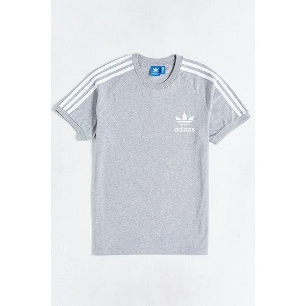 adidas Originals Sport Essential Tee ($34) ❤ liked on Polyvore featuring men's fashion, men's clothing, men's shirts, men's t-shirts, grey, adidas mens shirts, mens raglan sleeve shirts, mens long sleeve t shirts, mens sport t shirts and mens long sleeve shirts